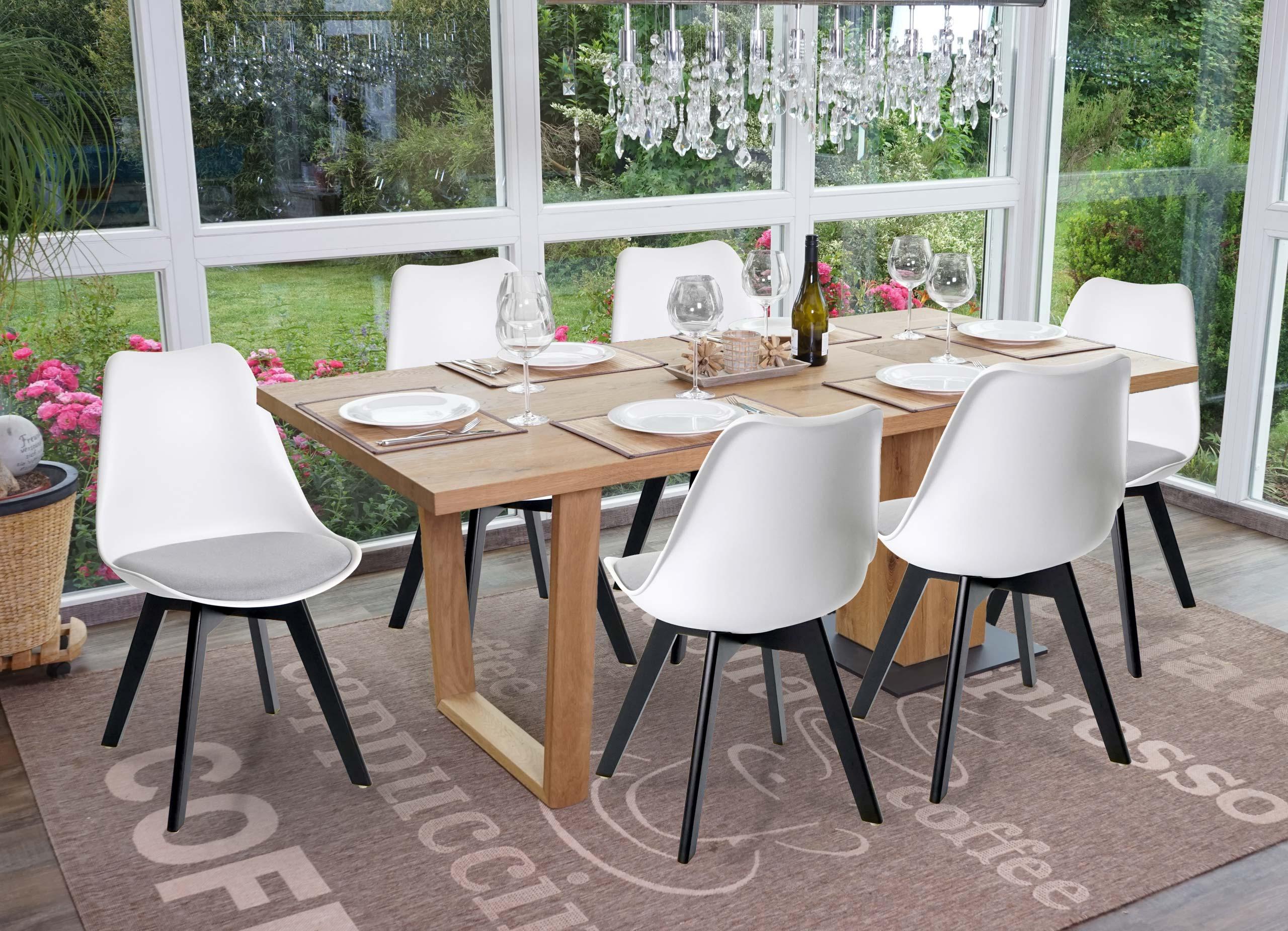 6x Esszimmerstuhl HWC E53 Stuhl Küchenstuhl Retro Design