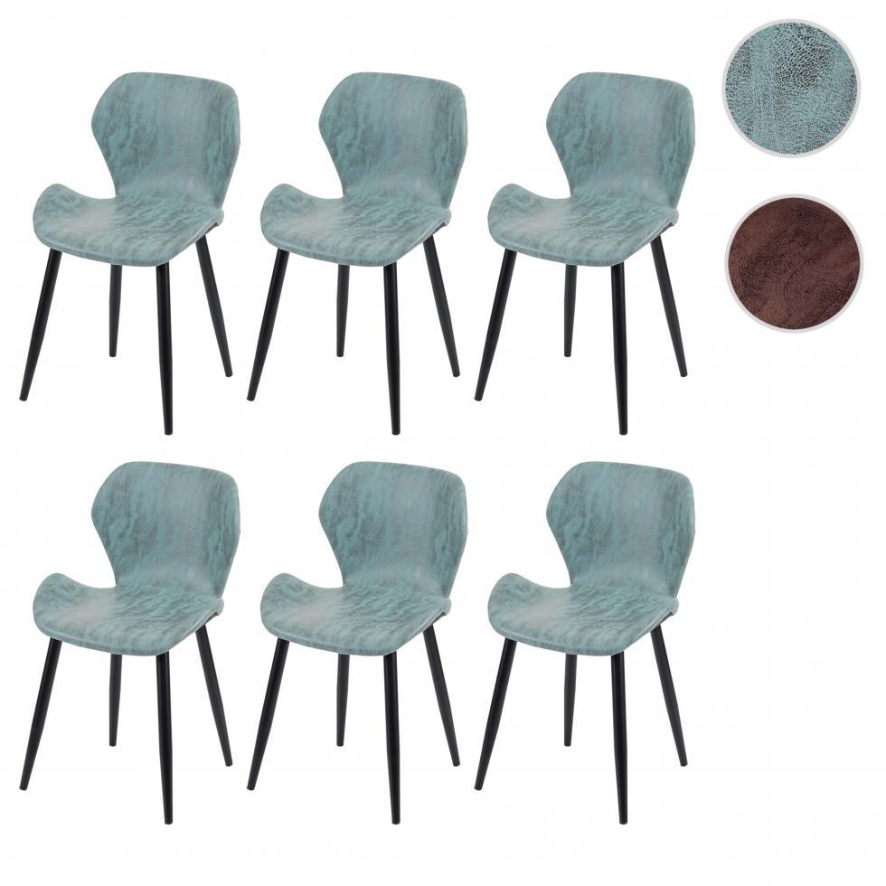 Details zu 6x Esszimmerstuhl HWC F24, Stuhl Küchenstuhl, Kunstleder