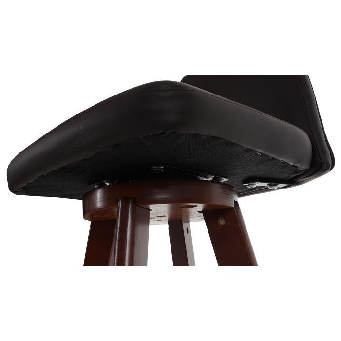 barhocker boras barstuhl tresenhocker holz kunstleder drehbar braun dunkle beine. Black Bedroom Furniture Sets. Home Design Ideas