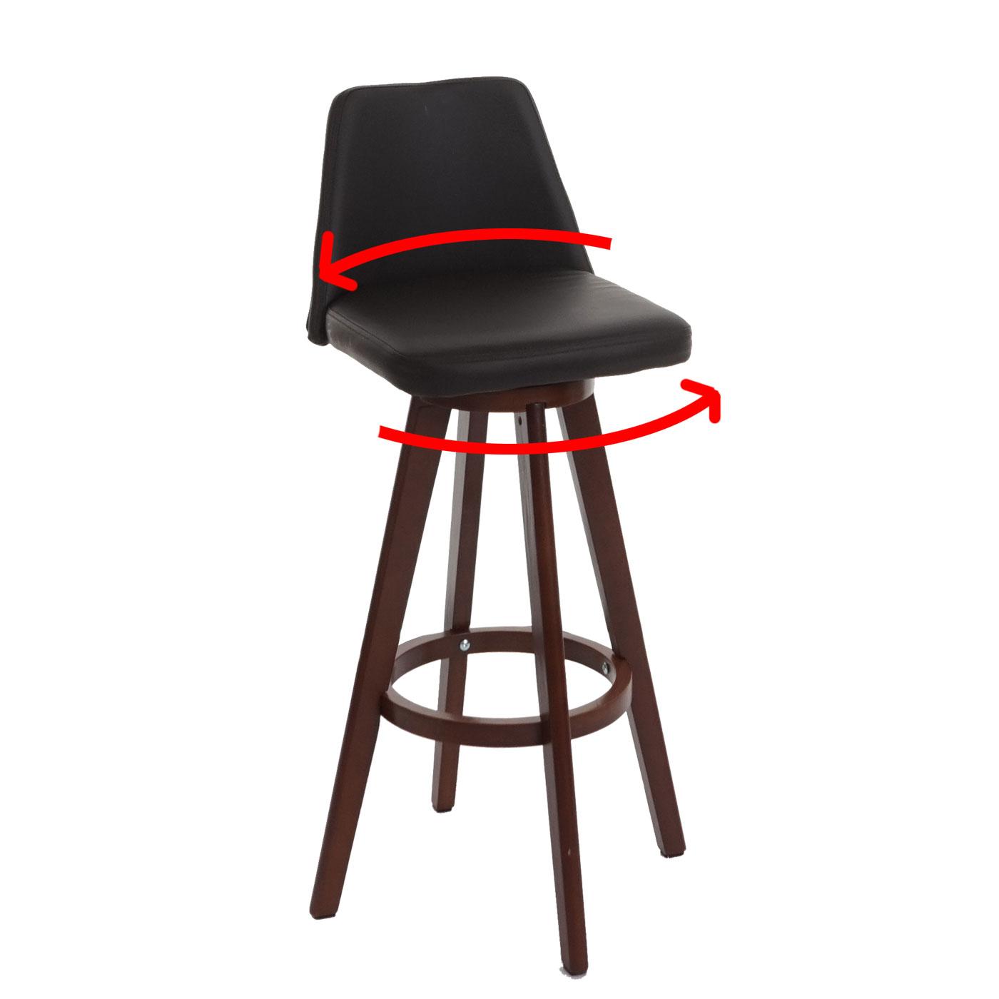 barhocker boras barstuhl tresenhocker holz kunstleder. Black Bedroom Furniture Sets. Home Design Ideas