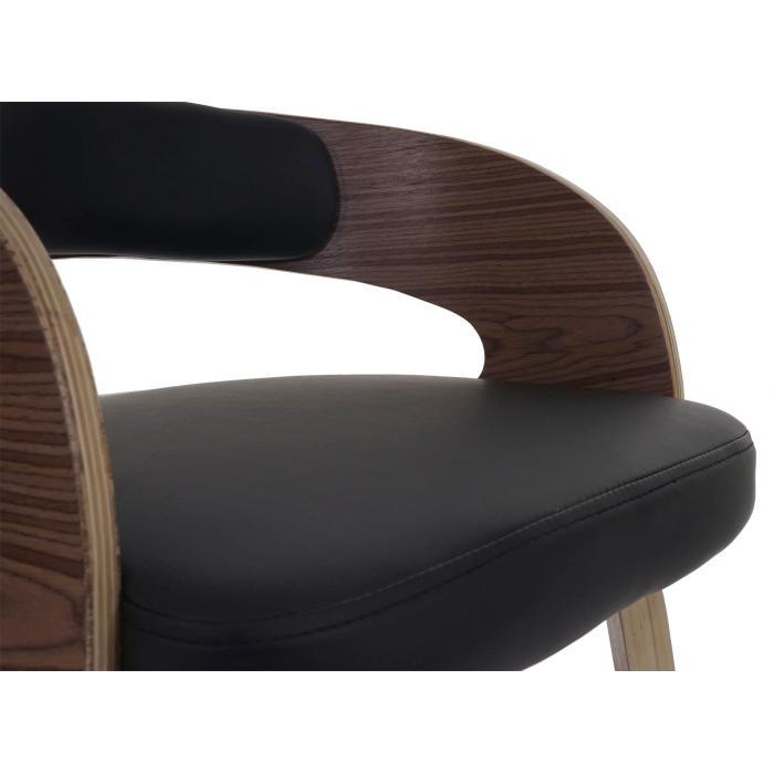 Besucherstuhl pula stuhl holz bugholz retro design polster schwarz - Designer holzstuhl ...