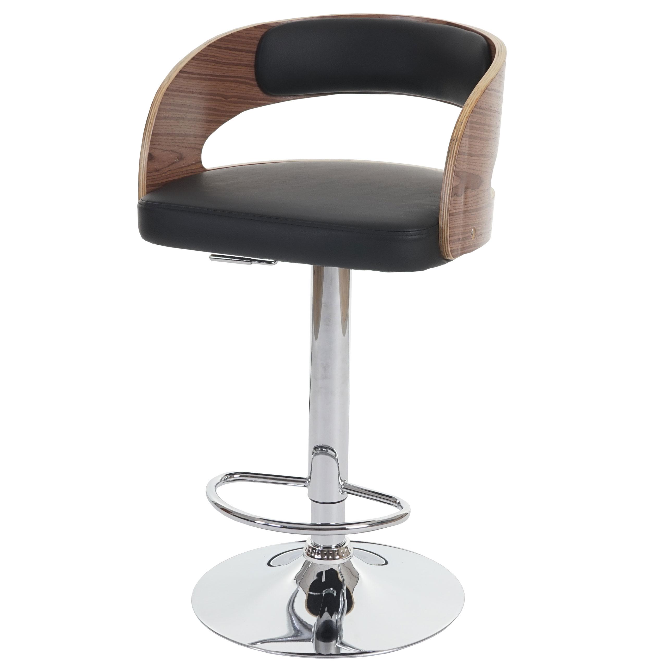 sisak, barstuhl, holz bugholz retro-design ~ polster schwarz, Moderne