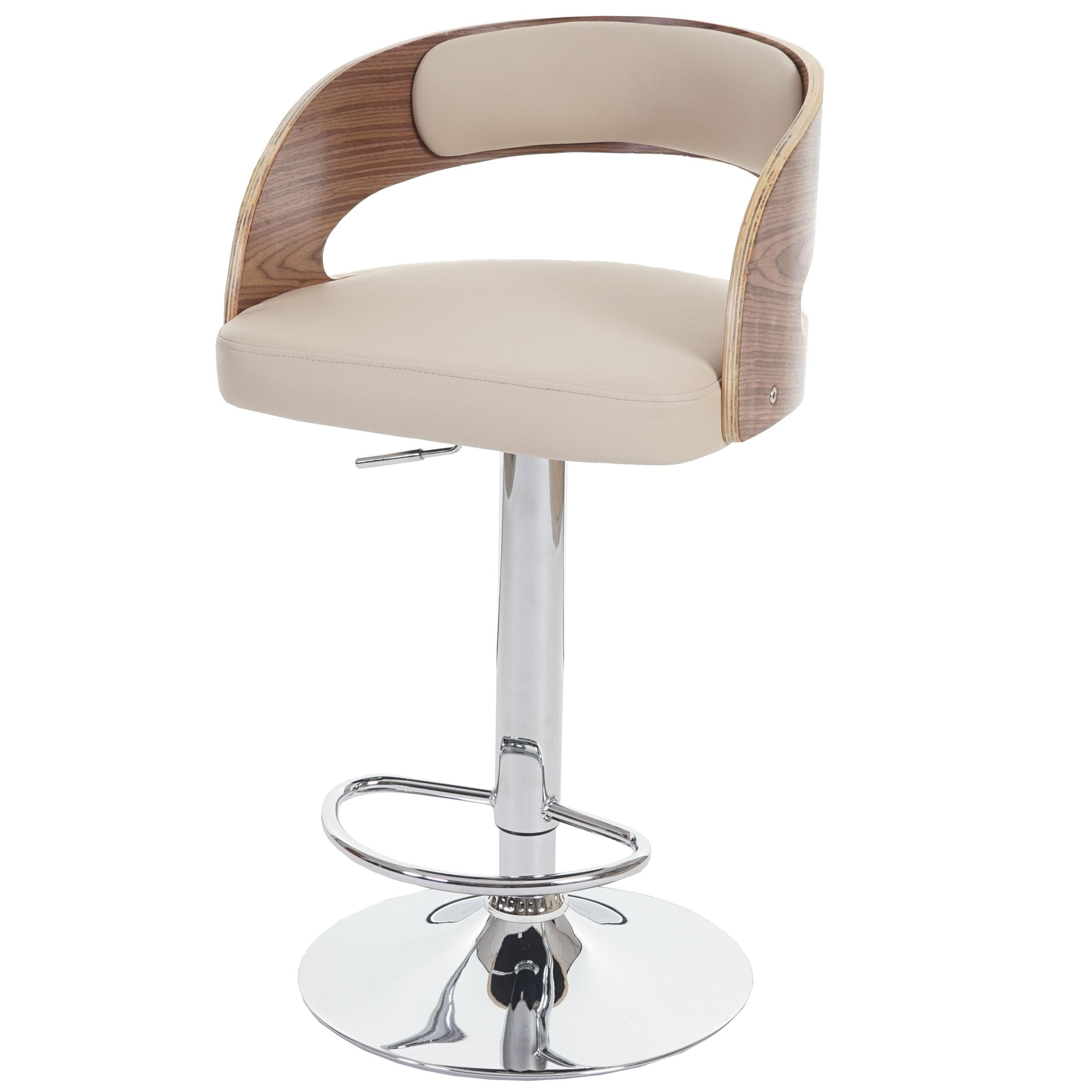 barhocker sisak barstuhl holz bugholz retro design schwarz creme ebay. Black Bedroom Furniture Sets. Home Design Ideas