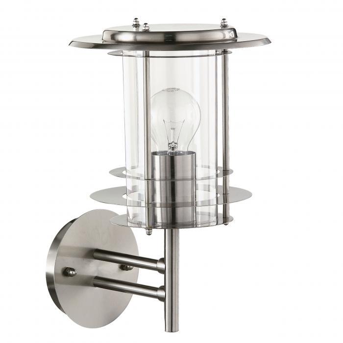 leuchten direkt au en wandleuchte wandlampe edelstahl. Black Bedroom Furniture Sets. Home Design Ideas