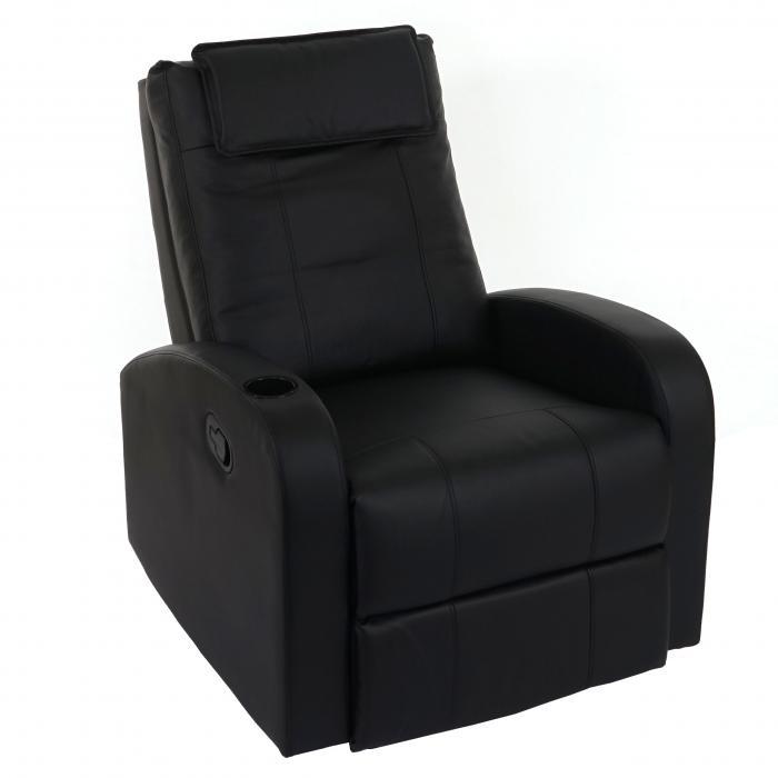 fernsehsessel durham tv sessel relaxsessel liegesessel kunstleder schwarz. Black Bedroom Furniture Sets. Home Design Ideas