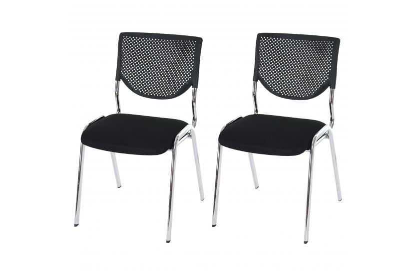 Konferenzstuhl stapelbar  2x Besucherstuhl T401, Konferenzstuhl stapelbar, Textil ~ Sitz ...