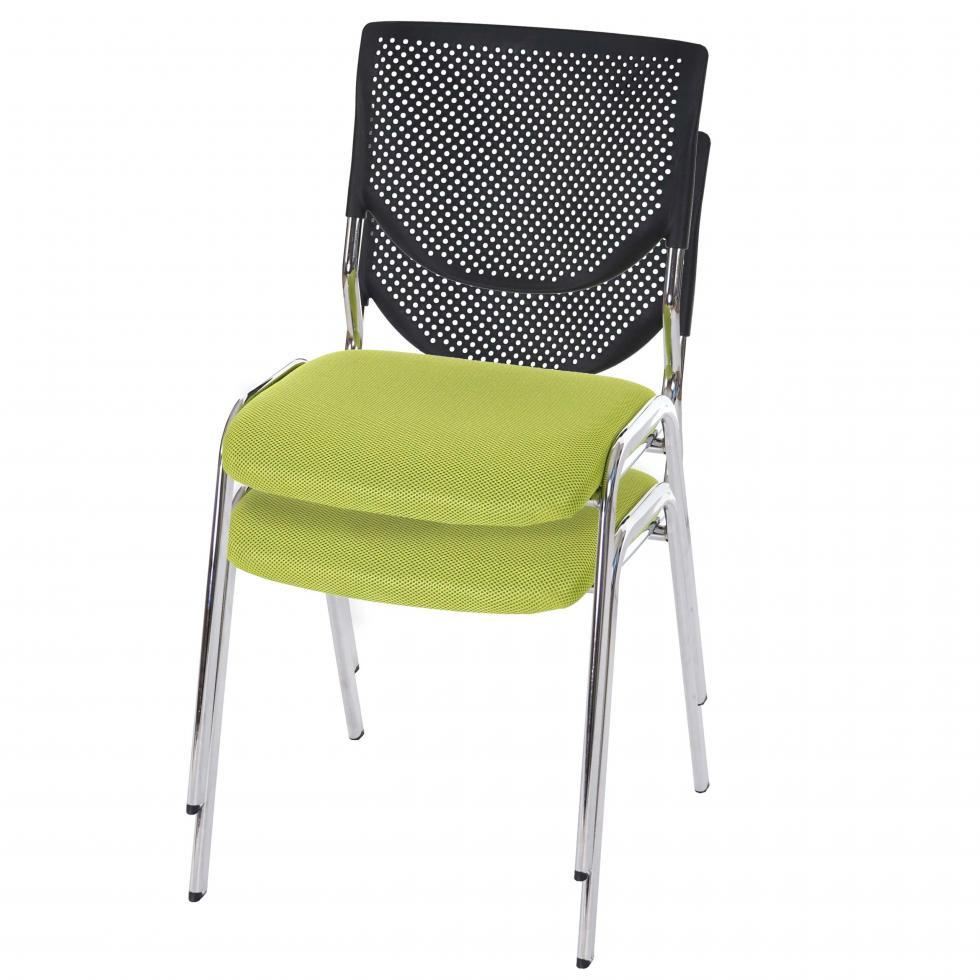 2x besucherstuhl h401 konferenzstuhl textil sitz gr n f e chrom 4052826197545 ebay. Black Bedroom Furniture Sets. Home Design Ideas