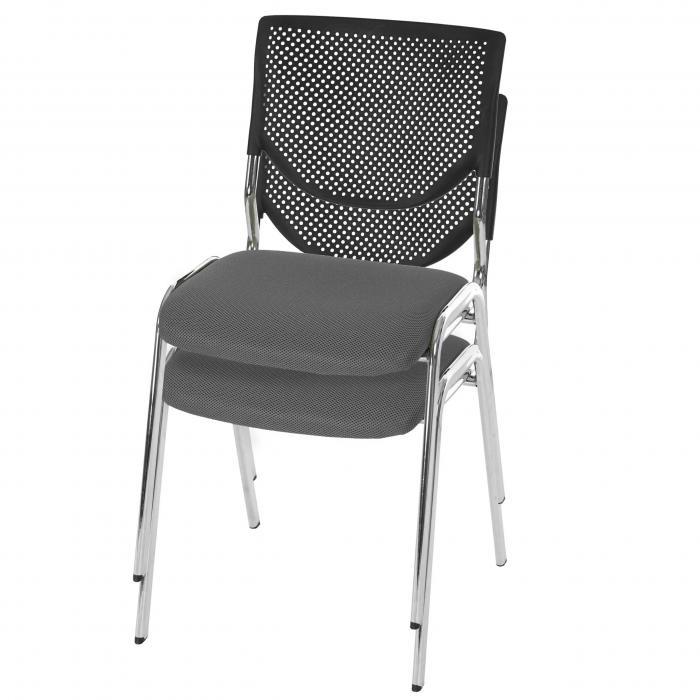 Konferenzstuhl stapelbar  Besucherstuhl T401, Konferenzstuhl stapelbar, Textil ~ Sitz grau ...