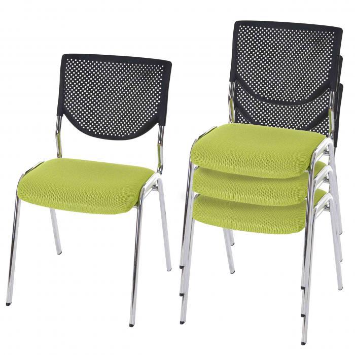 Konferenzstuhl stapelbar  Besucherstuhl T401, Konferenzstuhl stapelbar, Textil ~ Sitz grün ...