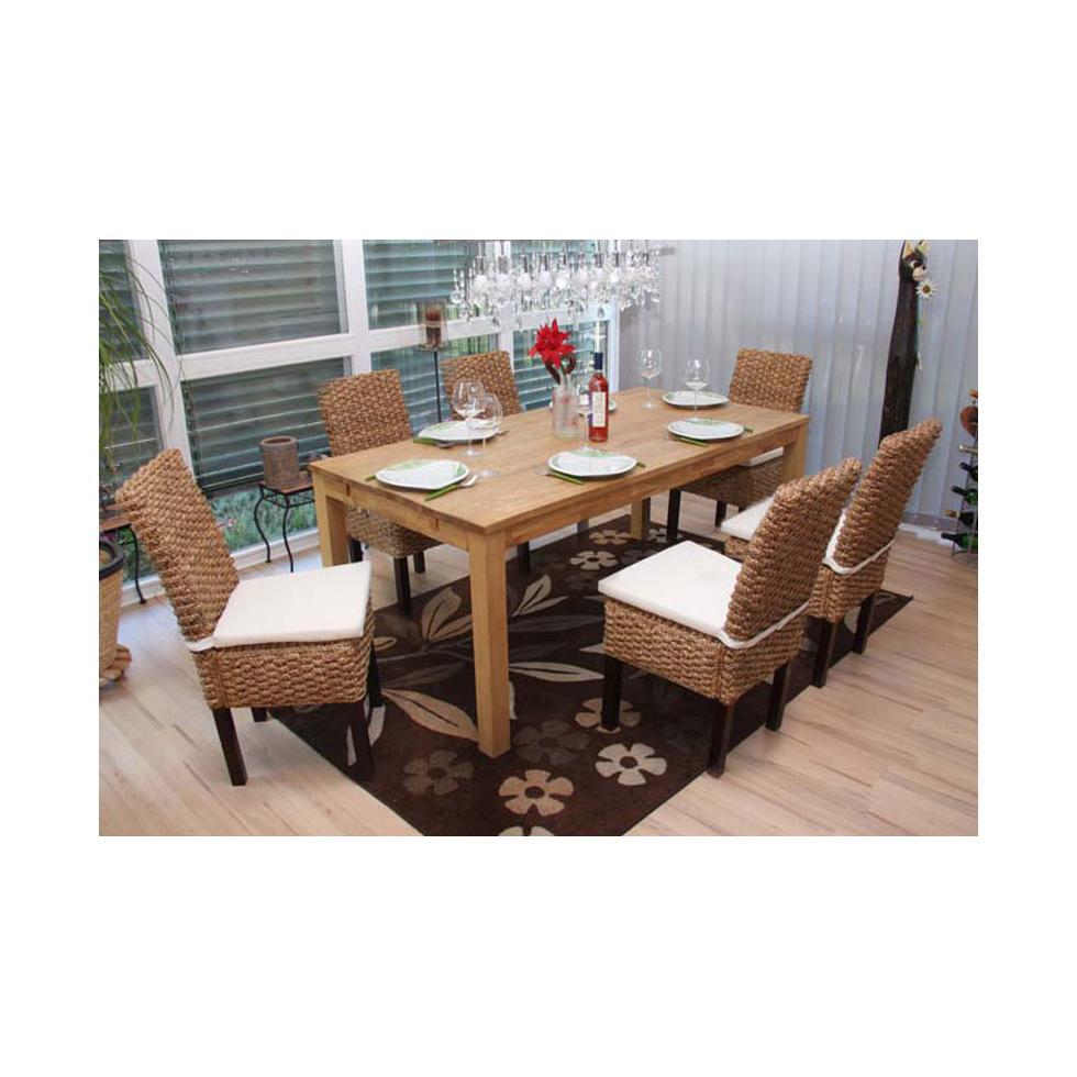 6x esszimmerstuhl korbstuhl m43 stuhl wasserhyazinthe ebay. Black Bedroom Furniture Sets. Home Design Ideas