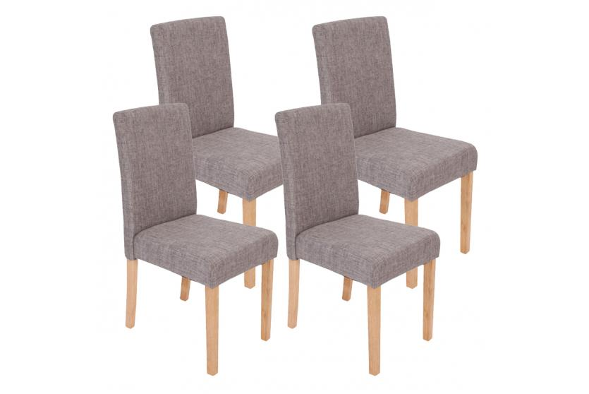 4x esszimmerstuhl stuhl lehnstuhl littau textil grau for Stuhl abc design