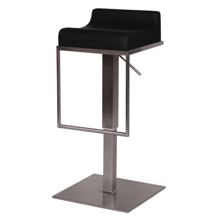 barhocker a041 barstuhl edelstahl geb rstet schwarz. Black Bedroom Furniture Sets. Home Design Ideas