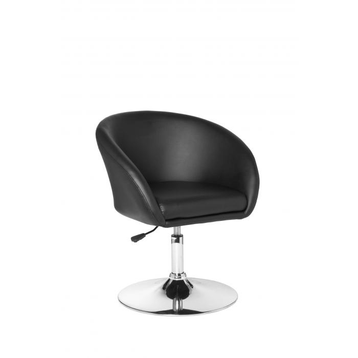 Drehsessel höhenverstellbar  A075, Drehsessel Lounger, Kunstleder, höhenverstellbar ~ schwarz