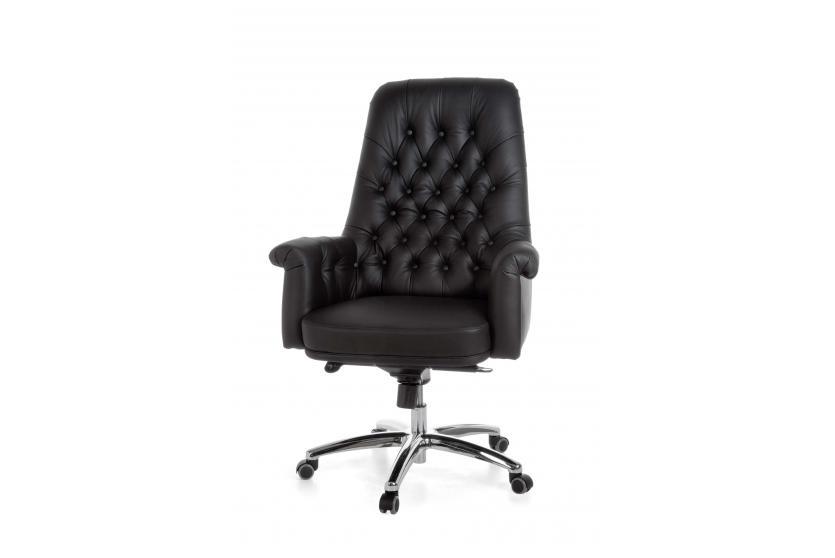Luxus chefsessel a084 b rostuhl drehstuhl echtleder 5 for Extra breiter sessel