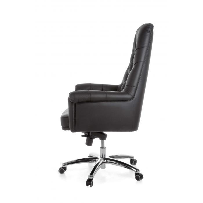 Luxus bürostuhl  Chefsessel A084, Bürostuhl Drehstuhl, Echtleder, 5-Punkt ...