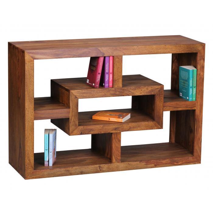 Bücherregal Design bücherregal malatya standregal regal sheesham massivholz 70x105x35cm