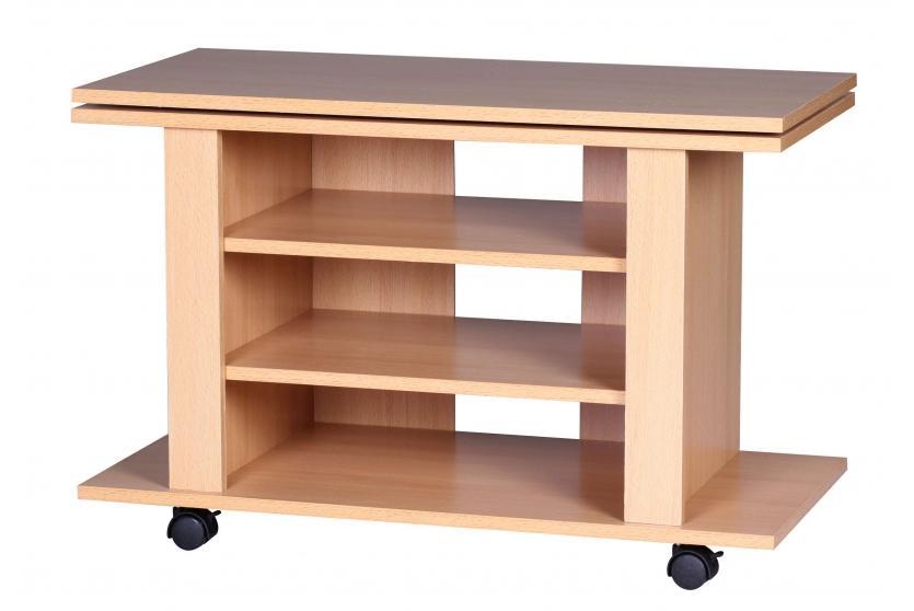 fernsehtisch a048 tv rack tv regal wohnzimmertisch drehbar 51x75x38cm. Black Bedroom Furniture Sets. Home Design Ideas