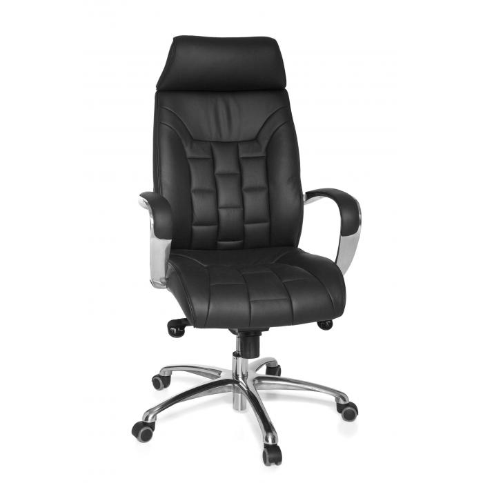 b rostuhl a035 chefsessel drehstuhl leder mit 5 punkt multiblockwippmechanik. Black Bedroom Furniture Sets. Home Design Ideas