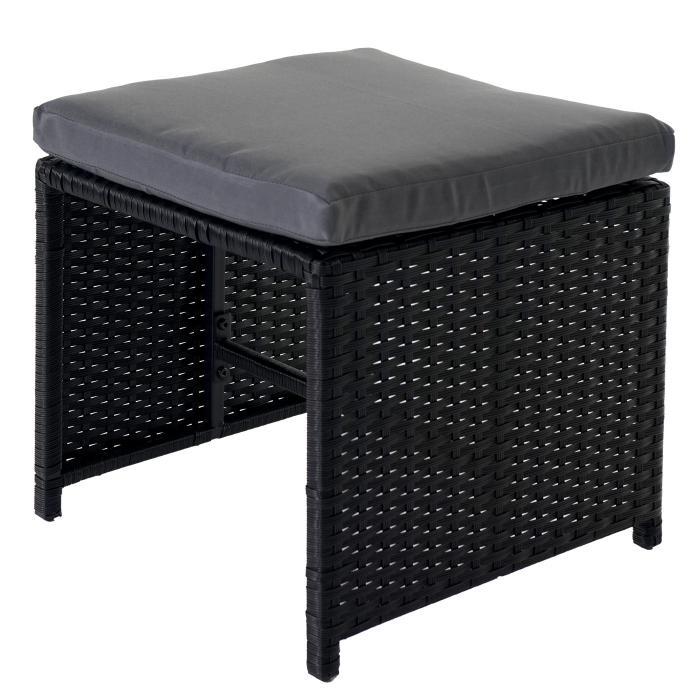 Rattan lounge schwarz grau  Rattan Garten-Garnitur Kreta, Lounge-Set Sitzgruppe 10 Sitzplätze ...