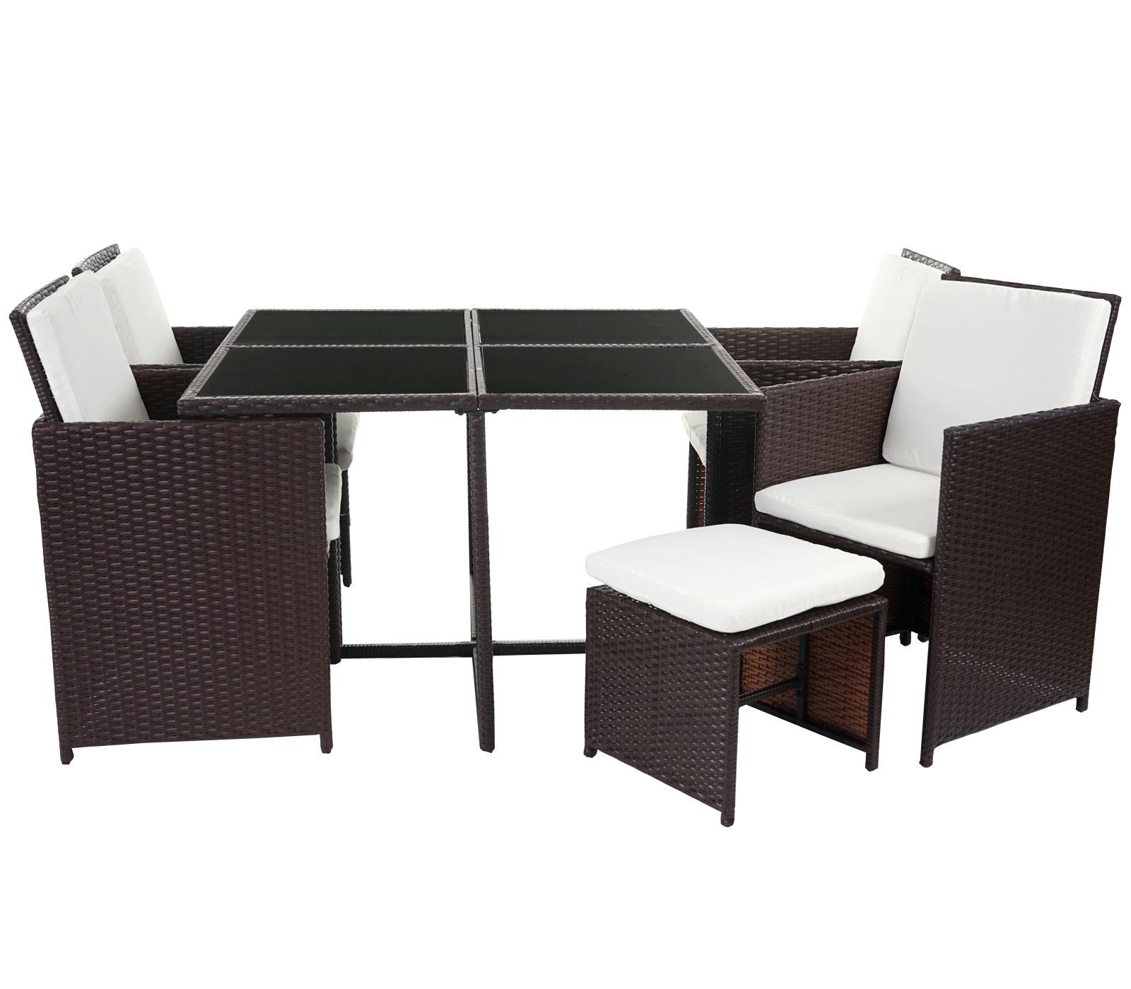 poly rattan garten garnitur korfu lounge set sitzgruppe. Black Bedroom Furniture Sets. Home Design Ideas