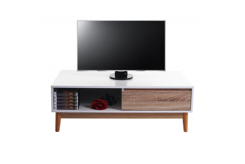 lowboard malm t406 kommode tv rack 110x60x38cm retro. Black Bedroom Furniture Sets. Home Design Ideas
