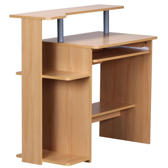 Schreibtisch a136 computertisch b rotisch 90x94x48cm buche for Computertisch buche