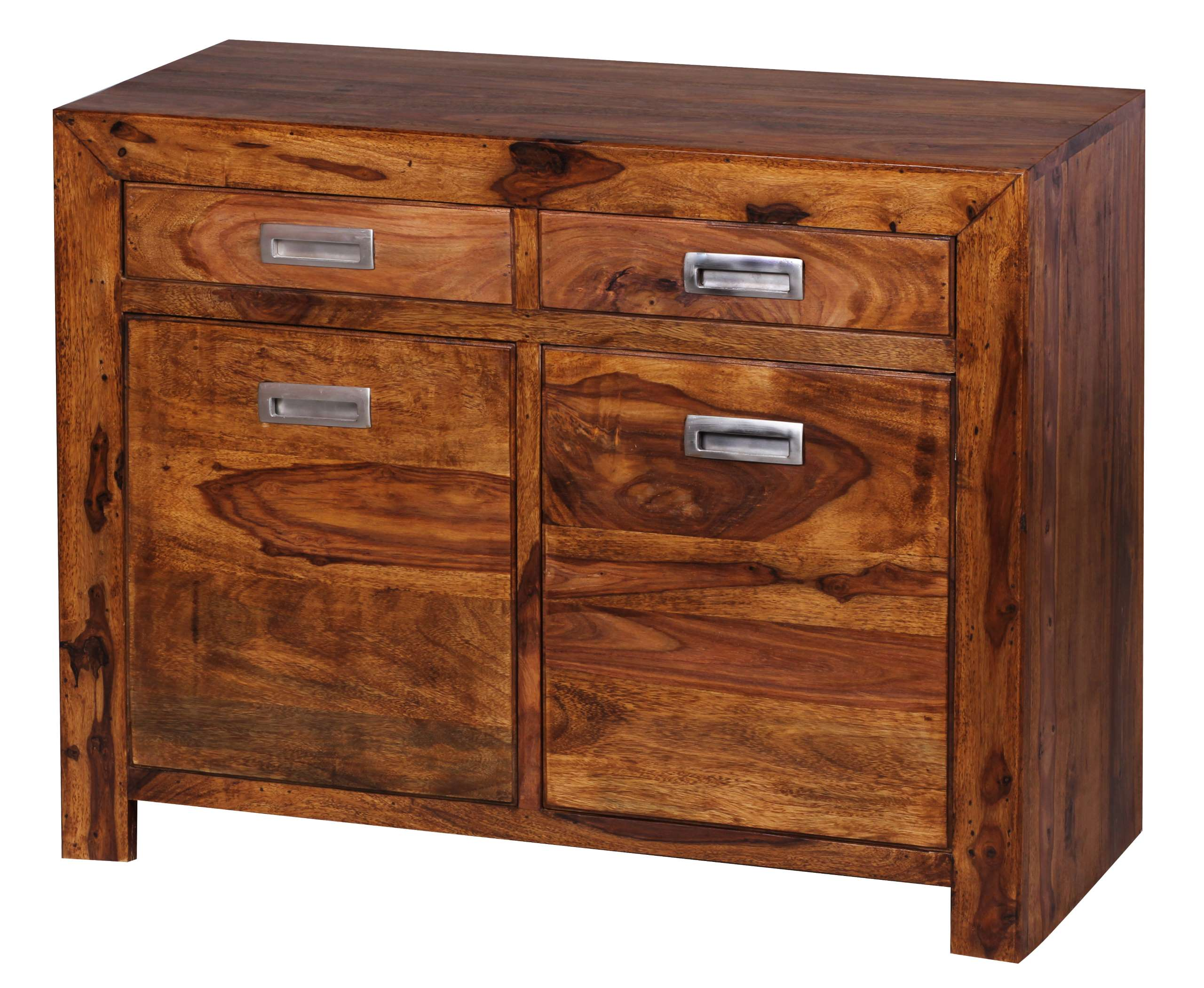 sideboard malatya kommode schrank sheesham massivholz 90x70x40cm. Black Bedroom Furniture Sets. Home Design Ideas