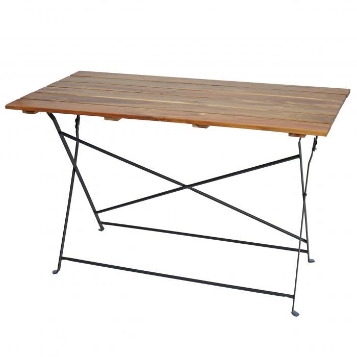 Klapptisch Gartentisch.Biergartentisch Graz Klapptisch Gartentisch Akazie Lackiert 75x120x60cm Natur