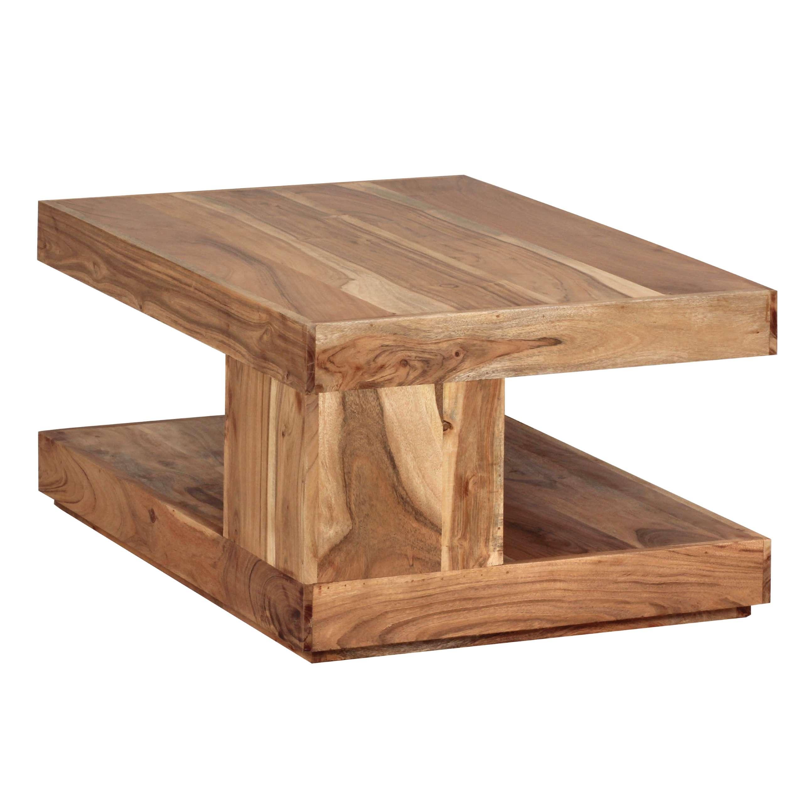 couchtisch konya wohnzimmertisch akazie massivholz 90x60x40cm. Black Bedroom Furniture Sets. Home Design Ideas
