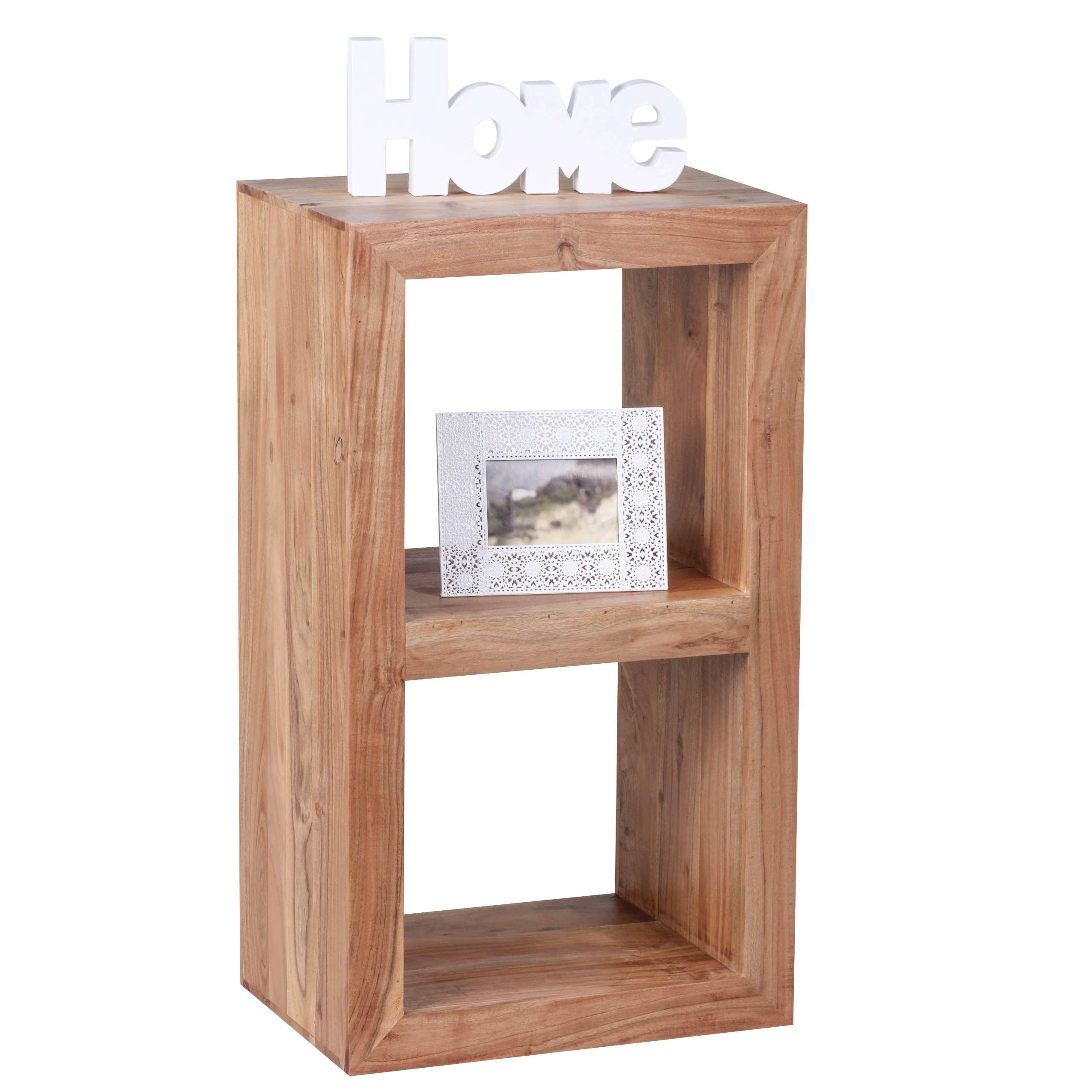 standregal konya regal beistelltisch akazie massivholz 88x50x35cm. Black Bedroom Furniture Sets. Home Design Ideas