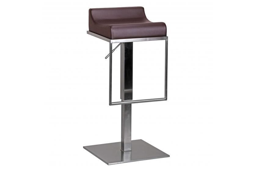 barhocker a041 barstuhl edelstahl geb rstet braun. Black Bedroom Furniture Sets. Home Design Ideas