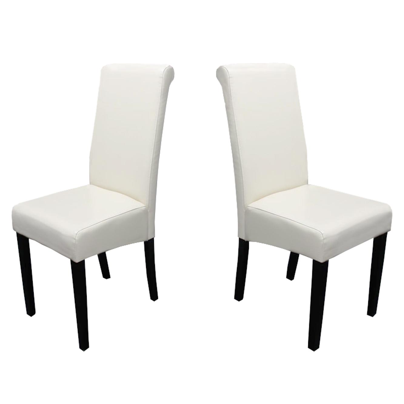 2x esszimmerstuhl stuhl novara ii leder schwarz creme. Black Bedroom Furniture Sets. Home Design Ideas