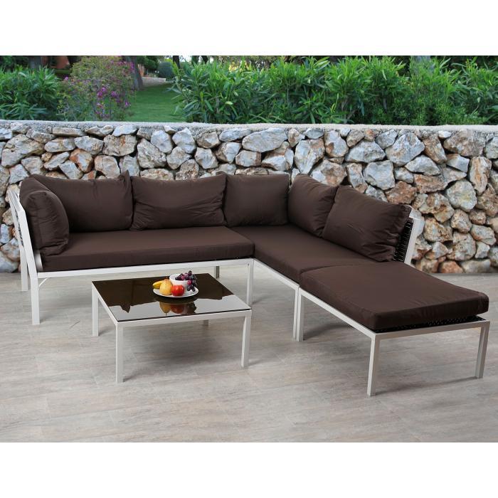 Rattan lounge anthrazit  Rattan Sofa-Garnitur Delphi, Sitzgruppe Lounge-Set, Alu ~ Set 1 ...