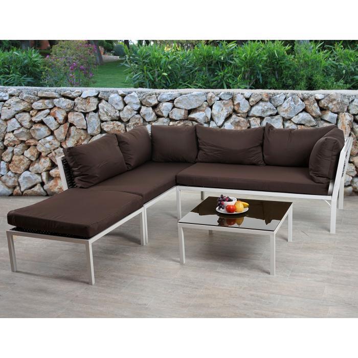 poly rattan sofa garnitur delphi sitzgruppe lounge set stahl set 2 kissen braun. Black Bedroom Furniture Sets. Home Design Ideas