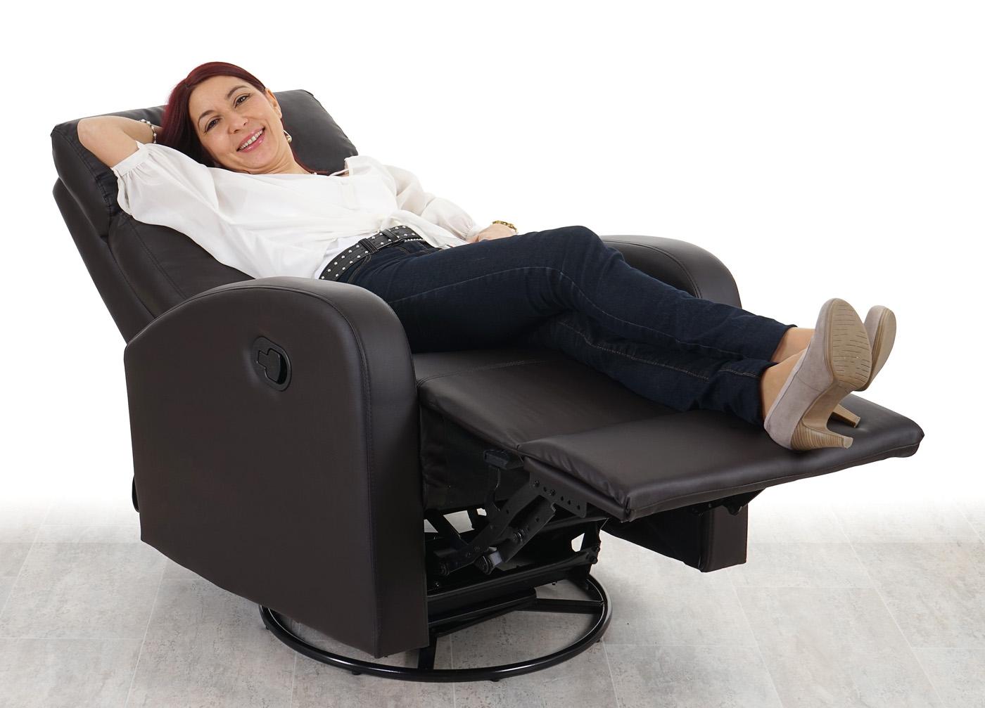 Fernsehsessel hwc a54 premium relaxsessel schaukelstuhl for Fernsehsessel drehbar