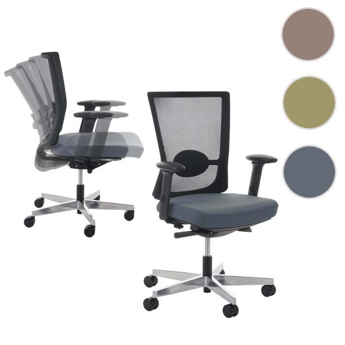 Drehstuhl ergonomisch  Bürostuhl Belfast, Schreibtischstuhl Drehstuhl, ergonomisch ~ grau