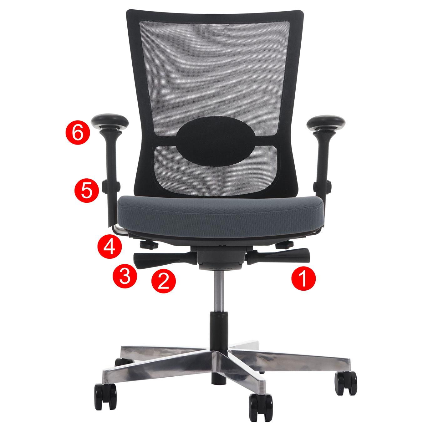 Schreibtisch hocker ergonomisch  Profi Bürostuhl Belfast, Schreibtischstuhl Drehstuhl, ergonomisch ...