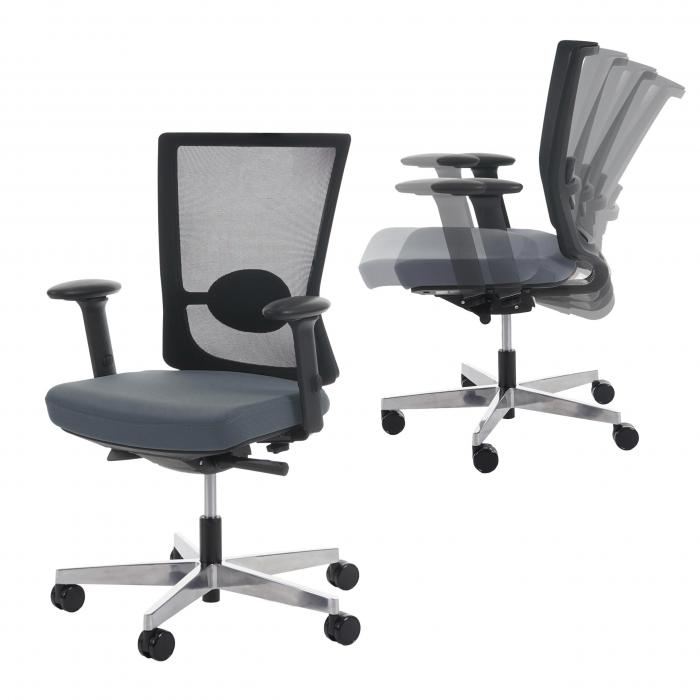 Ergonomischer bürostuhl preise  Bürostuhl Belfast, Schreibtischstuhl Drehstuhl, ergonomisch ~ grau