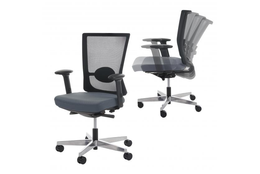 Schreibtischstuhl modern grau  Profi Bürostuhl Belfast, Schreibtischstuhl Drehstuhl, ergonomisch ...
