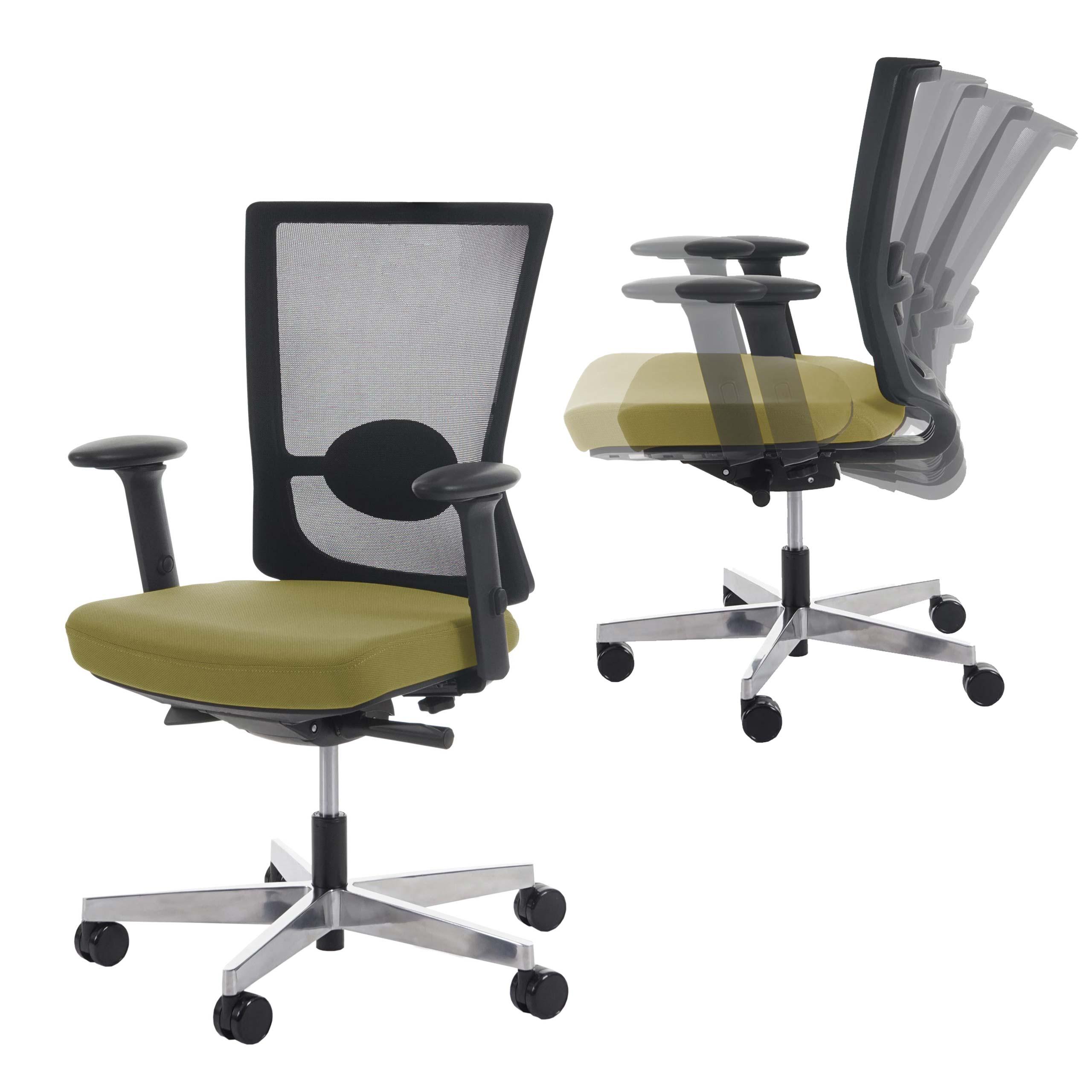Bürostuhl ergonomisch holz  Bürostuhl Belfast, Schreibtischstuhl Drehstuhl, ergonomisch ~ olive