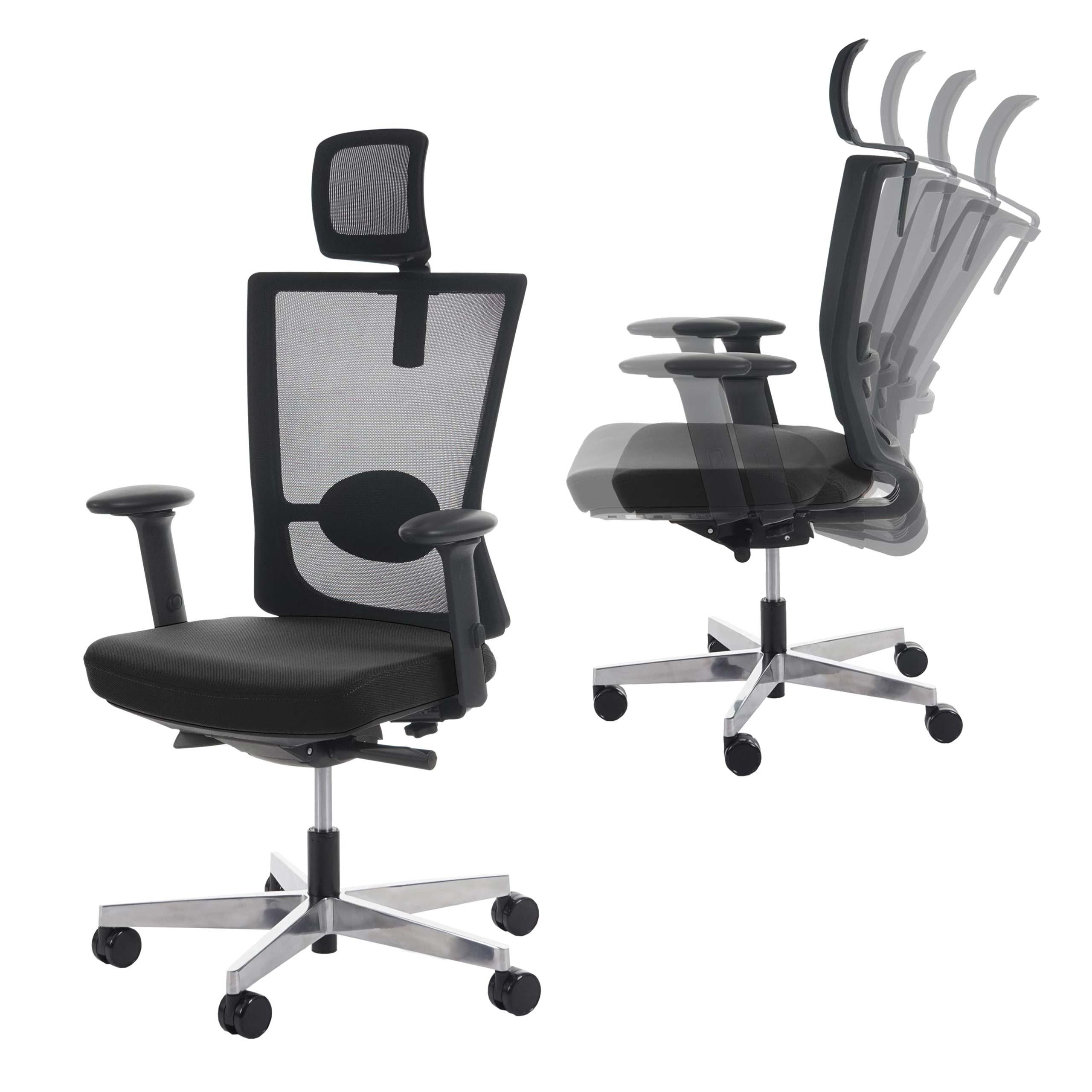 Drehstuhl ergonomisch  Bürostuhl Drammen, Schreibtischstuhl Drehstuhl, Kopfstütze ...