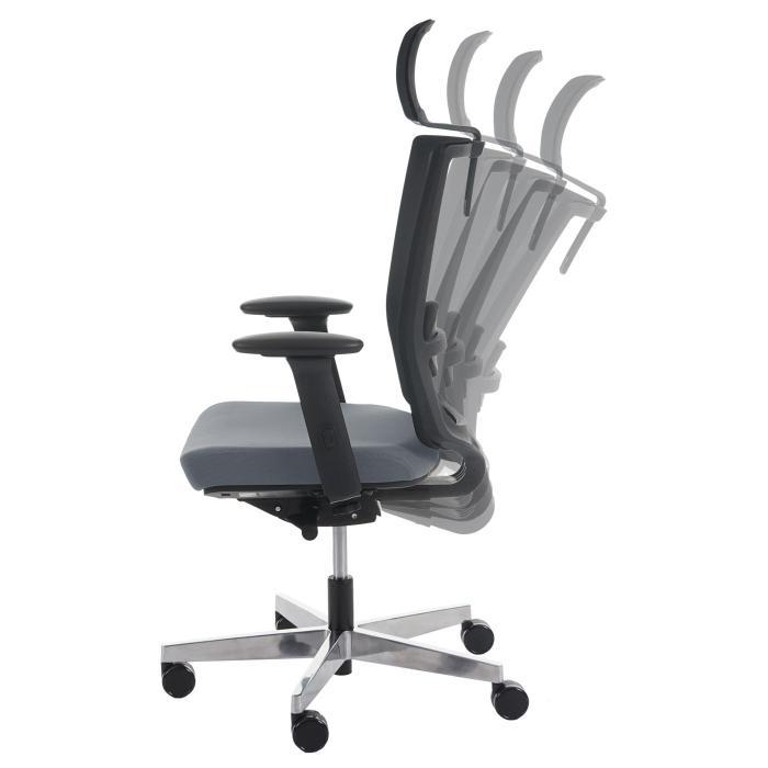 Drehstuhl ergonomisch  Bürostuhl Belfast, Schreibtischstuhl Drehstuhl, ergonomisch ~ grau ...