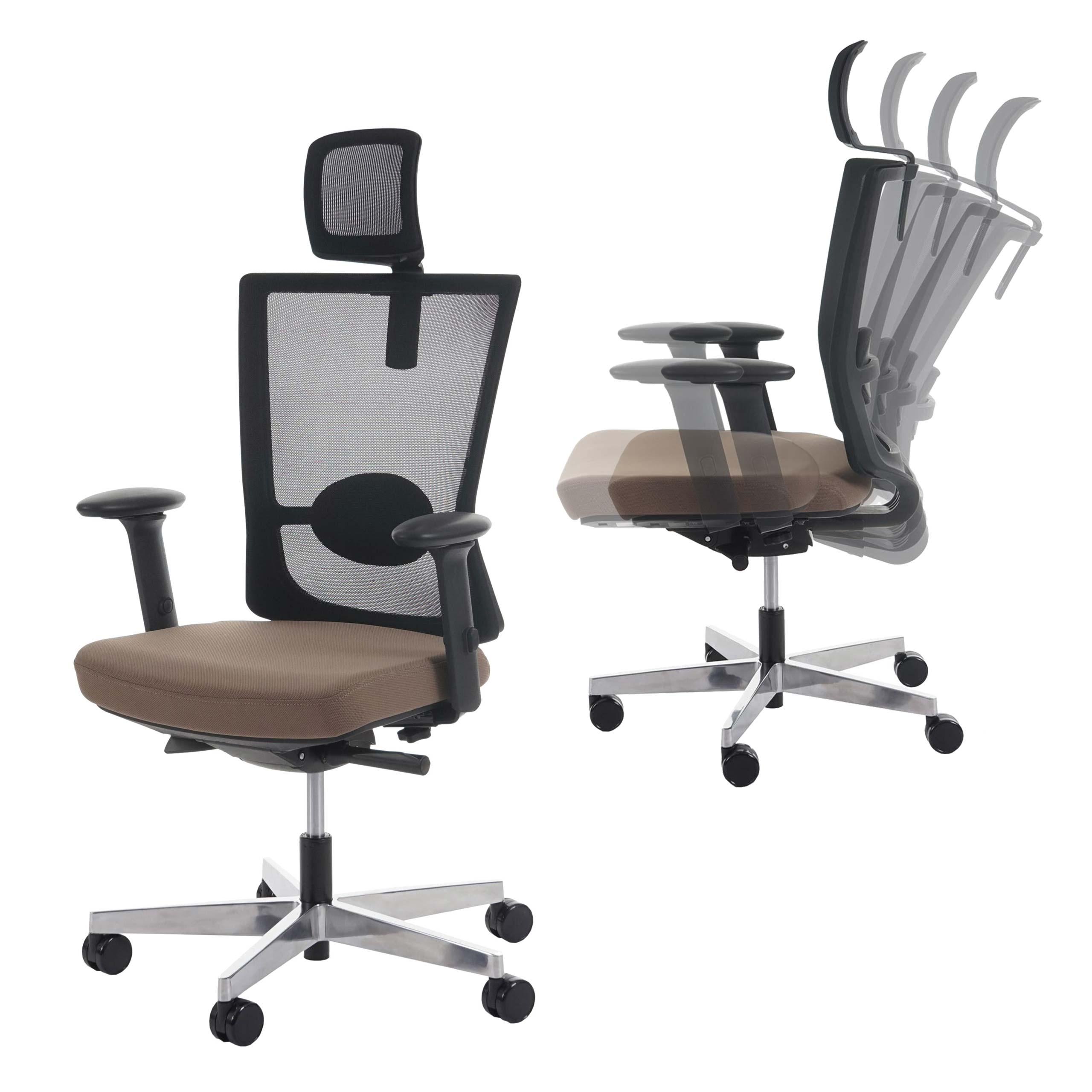 Bürostuhl Wippmechanik bürostuhl belfast schreibtischstuhl drehstuhl ergonomisch taupe