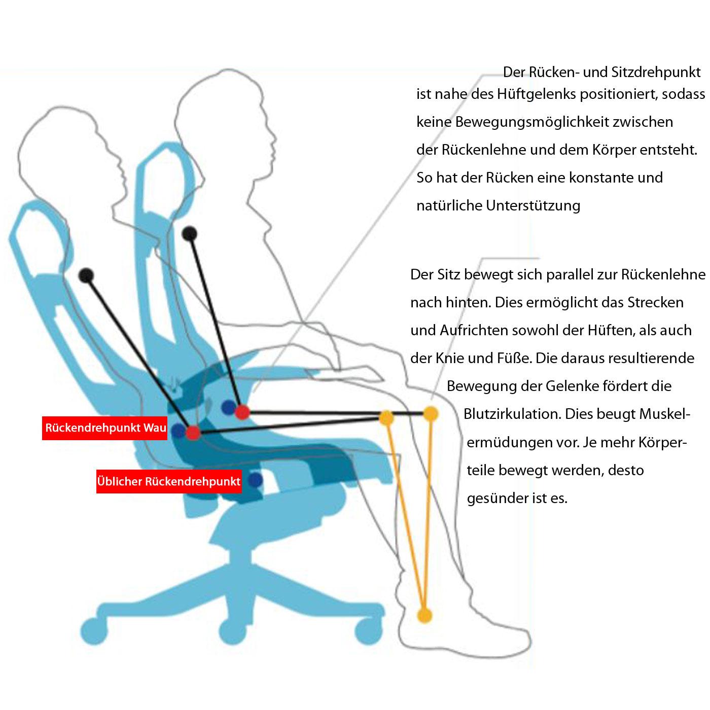 Ergonomischer bürostuhl anforderungen  Bürostuhl MERRYFAIR Wau 2, Schreibtischstuhl Drehstuhl, Polster ...