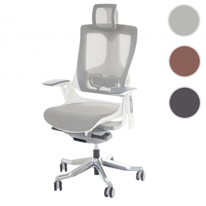 Ergonomischer bürostuhl weiß  MERRYFAIR Wau 2, Schreibtischstuhl Drehstuhl, Polster/Netz ...