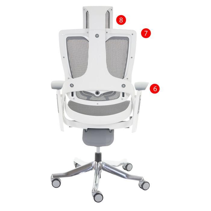Bürostuhl schwarz MERRYFAIR Drehstuhl ergonomisch Netz Wippmechanik Kopfstütze