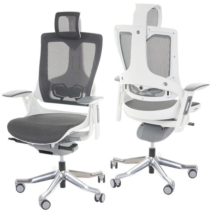 Bürostuhl ergonomisch holz  MERRYFAIR Wau 2, Schreibtischstuhl Drehstuhl, Polster/Netz ...