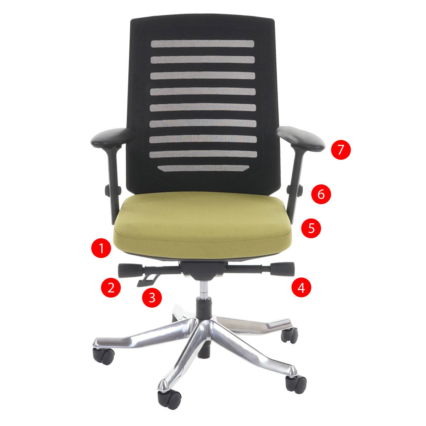 b rostuhl merryfair velo schreibtischstuhl polster netz sliding funktion ergonomisch olive. Black Bedroom Furniture Sets. Home Design Ideas