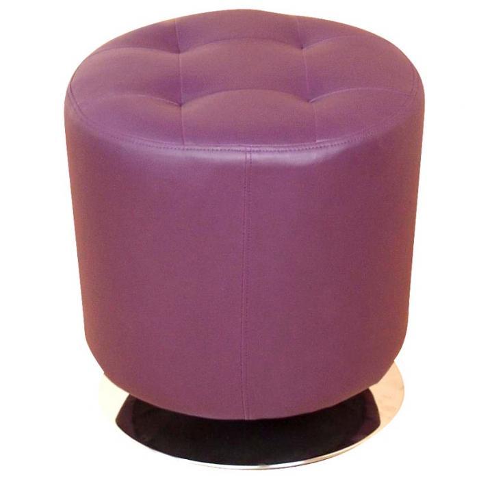 sitzhocker h107 hocker loungehocker drehbar kunstleder. Black Bedroom Furniture Sets. Home Design Ideas
