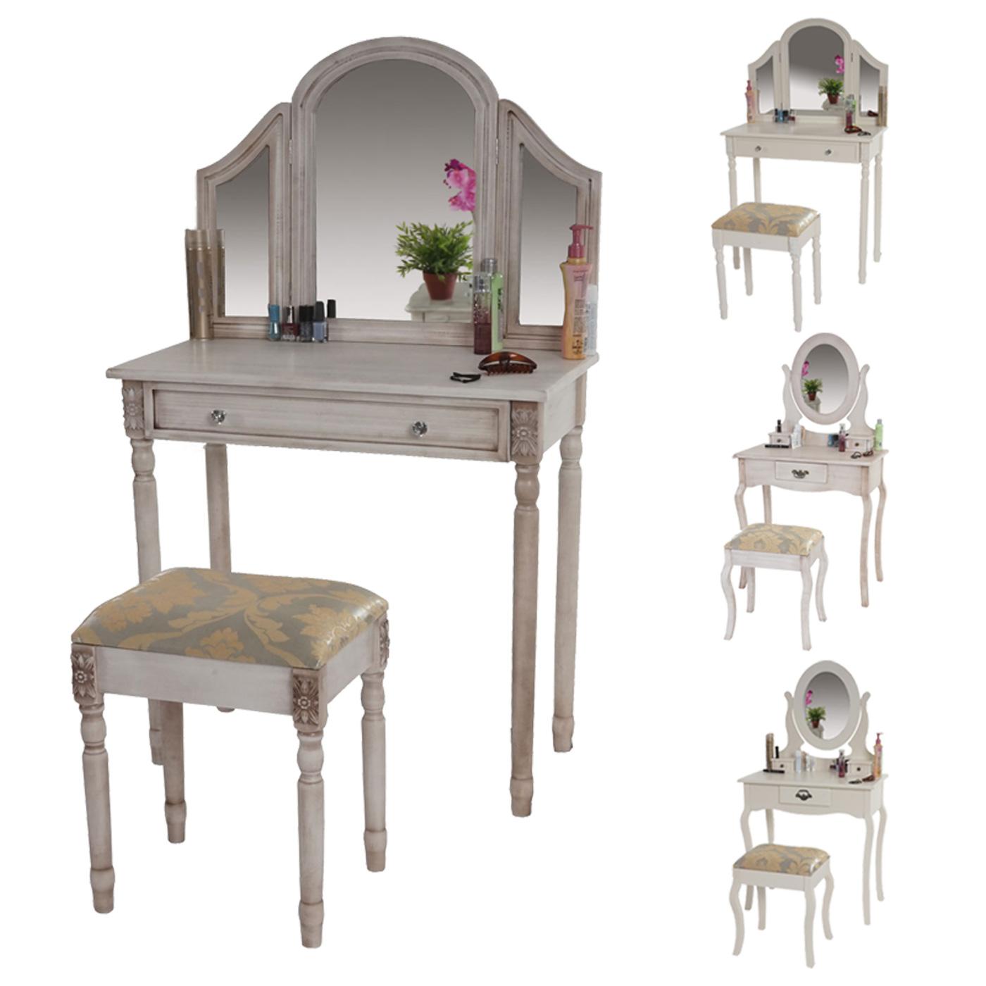 schminktisch gela frisiertisch mit hocker kosmetiktisch barock antik ebay. Black Bedroom Furniture Sets. Home Design Ideas